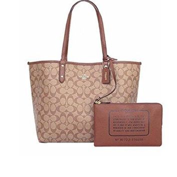 COACH REVERSIBLE CITY TOTE IN SIGNATURE F36658 IME74 (IM / KHAKI / SADDLE 2) COACH bag