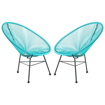 Acapulco Woven Basket Lounge Chairs (Set of 2) (China)   Overstock.com Shopping - The Best Deals on Patio Chairs