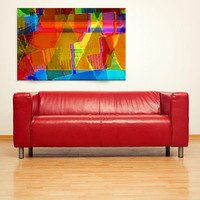SUMMER SONG Contemporary Abstract Giclee Art Print colorful large format wall decor, home decor, office decor, abstract digital painting