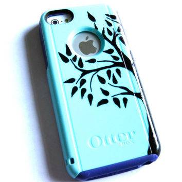 Otterbox iphone 5c case, Iphone 5c case, Glitter case, Iphone cover, custom otterbox iphone 5c, gift, tree iphone 5c case
