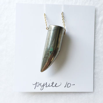 Pyrite claw - trunk show