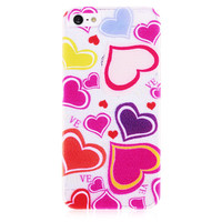 Hearts Transparent Hard Back Case for iPhone 5 & 5S