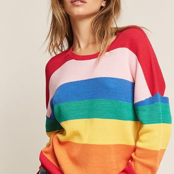 Rainbow-Stripe Top