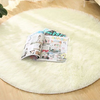 Anti-slip 80cm 100cm 120cm Thick Big Round Floor Carpets For Living Room Bathroom Circle Mat Rug