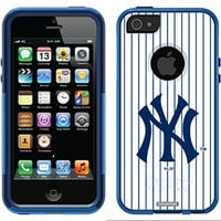 """""""New York Yankees - NY Stripes"""" Yankees design on OtterBox® Commuter Series® Case for iPhone 5s / 5 in Black"""