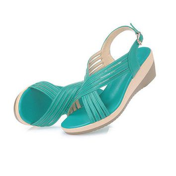 Leather Casual Comfy Wedge Sandals