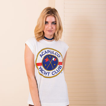"""Acapulco Yacht Club"" Vintage Muscle Tee"