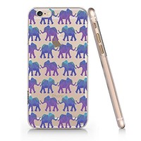 Elephant Pattern Transparent Plastic Phone Case for Iphone 6
