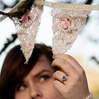 Vintage Style Teas Stained Lace Bunting | Luulla
