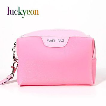 Waterproof TPU Rectangle Shaped Portable Handbag Cosmetic Bags Storage Toiletry Wash Bag for Travel