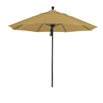 9 Foot 4A Sunbrella Fabric Aluminum Pulley Lift Patio Patio Umbrella with Bronze Pole