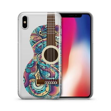 Henna Abstract Guitar - Clear TPU Case Cover Phone Case