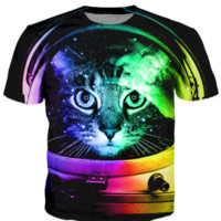 Rainbow Space Cat
