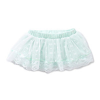 Baby Starters 3-12 Months Ditsy-Lace/Tulle Skirt - Blue