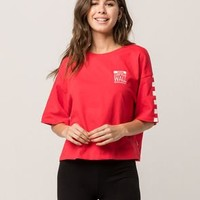 VANS Off The Wall Red Womens Tee