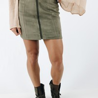 All Day All Night Skirt - Olive