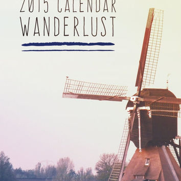 SALE Christmas Gift Idea Holiday Gift Idea Calendar, Wanderlust, desk calendar, holiday gift, travel photography, loose leaf calendar, offic