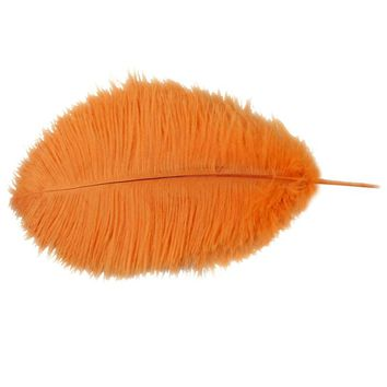 SZS Hot 10 pcs Ostrich Feathers 12-14 inch (30-35cm) for Wedding Centerpieces Home Decoration Party Stage Accessories orange