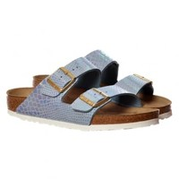 Birkenstock Arizona Shiney Snake Birkoflor - Standard Fitting Classic Buckled Two Strap - Flip Flop Sandal - Birkenstock from Onlineshoe UK