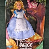 1999 Alice in Wonderland Barbie Doll with Cheshire Cat Disney Collector