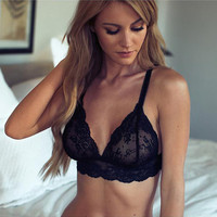 Cute On Sale Hot Deal Sexy Black Lace Bra Exotic Lingerie [10681938639]