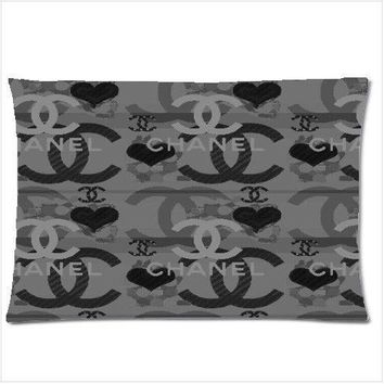 """905Chanel 2 Throw Zippered Pillow Case 18x26"""" Cushion Cover Popular"""