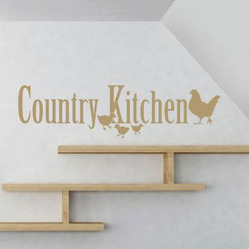 Country Kitchen Wall Decal