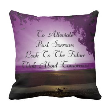 Alleviate Quote by Kat Worth Throw Pillow