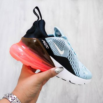 Nike Air Max 270 Trending New Style Women Transparent Air Cushion Running Sport Shoe Sneakers I