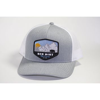Red Dirt Hat Co Mountain Buffalo Heather Grey/White  Snap Back Trucker Hat