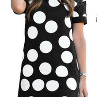 Black And White Polka Dot Print Slim Dress 10163