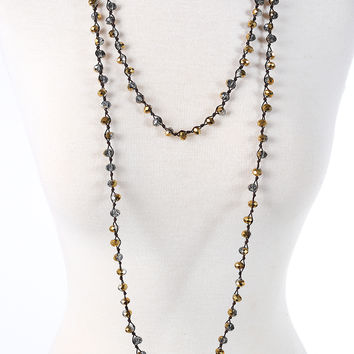 Peyton Necklace - Gold & Black