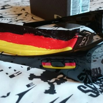 Rare Oakley Hijinx sunglasses, Germany edition, Black Iridium lenses, World Cup