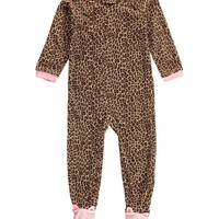 Carter's Baby Girls' 1-Piece Footed Fleece Pajamas