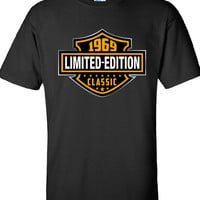 45th Birthday Shirt 1969, Limited Edition Classic B-day T Shirt Cool hipster swag mens womens ladies TShirt T-Shirt T Shirt Tee  - DT-605