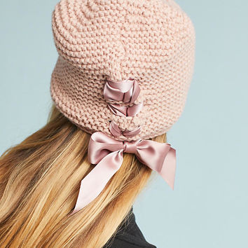 Ribbon-Laced Beanie