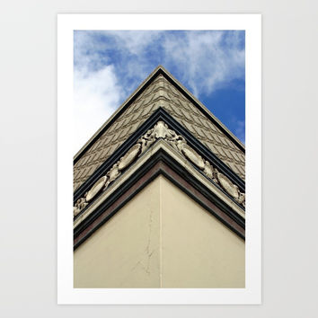 Corner Of Building Art Print by Henrik Lehnerer