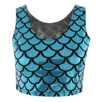 Mermaid Rave Crop Top