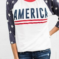 America Star Baseball Tee – Ily Couture