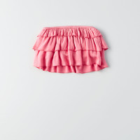 Don't Ask Why Tiered Ruffle Crop Top, Pink Punch