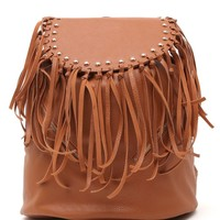 Nila Anthony Fringe School Backpack - Womens Handbags - Brown - One