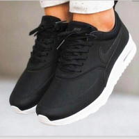 NIKE Women Men Running Sport Casual Shoes Sneakers Fashion Black