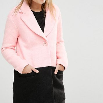 Little Mistress Color Block Coat at asos.com