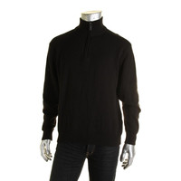 Tricots St. Raphael Mens Knit Ribbed Trim Pullover Sweater
