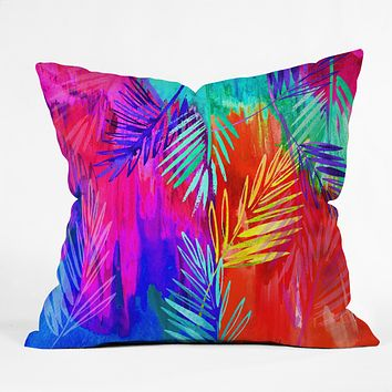 Holly Sharpe Tropical Heat 01 Throw Pillow