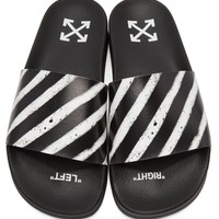 B/W Summer Slides by OFF WHITE