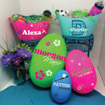 Limited Time Only - Easter Baskets - Personalized Kids Easter Basket, Gift for Children, Easter Egg, Custom Gift for Baby, Kids Name Sign