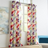 Poppy Blooms Window Curtains