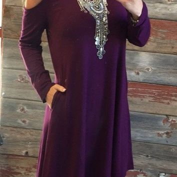 Casual For Fall Dress: Plum