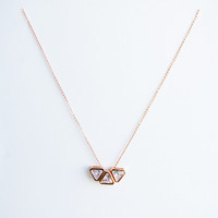 Geometric triangles pendant chain 18K Rose gold plated